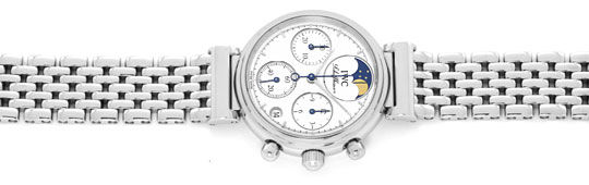 Foto 1, IWC Da Vinci Ewige Mondphase Chronograph Stahl Damenuhr, U2285