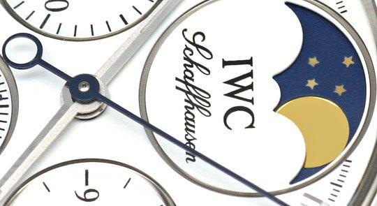 Foto 3, IWC Da Vinci Ewige Mondphase Chronograph Stahl Damenuhr, U2285