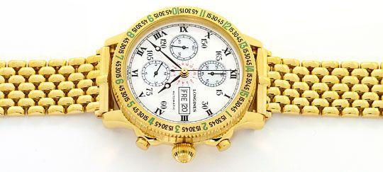 Foto 1, Longines Lindbergh Hour Angle Uhr Chronograph, Gold 18K, U2286