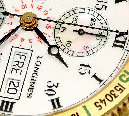Foto 3, Longines Lindbergh Hour Angle Uhr Chronograph, Gold 18K, U2286