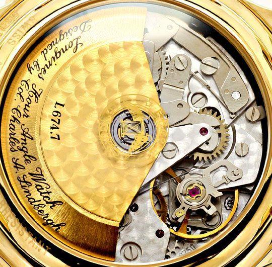 Foto 5, Longines Lindbergh Hour Angle Uhr Chronograph, Gold 18K, U2286
