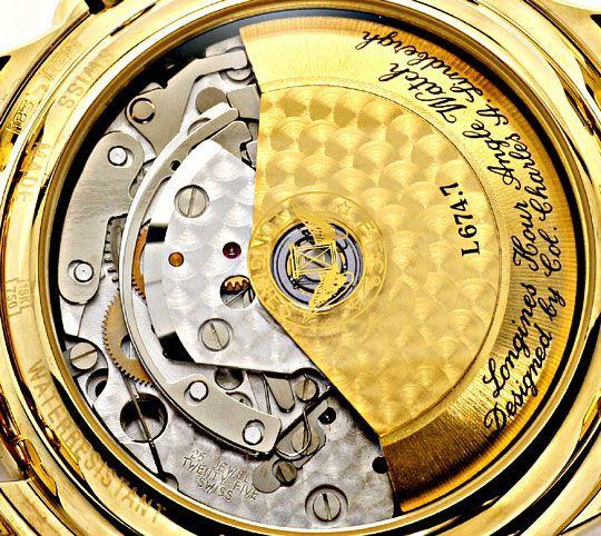 Foto 6, Longines Lindbergh Hour Angle Uhr Chronograph, Gold 18K, U2286