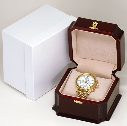 Foto 9, Longines Lindbergh Hour Angle Uhr Chronograph, Gold 18K, U2286