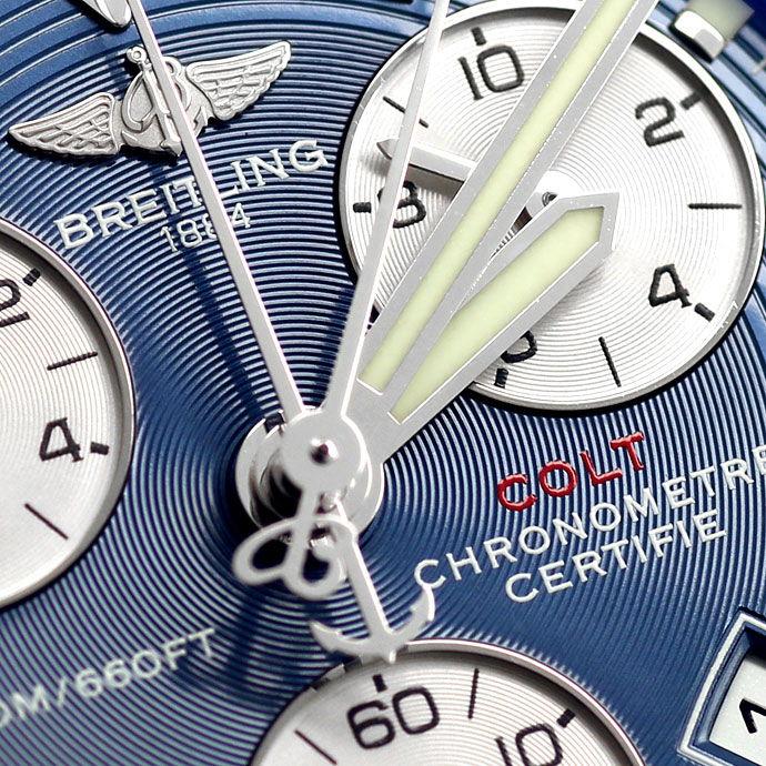 Foto 3 - Breitling Colt Chronograph Herrenuhr in Stahl mit Leder, U2288
