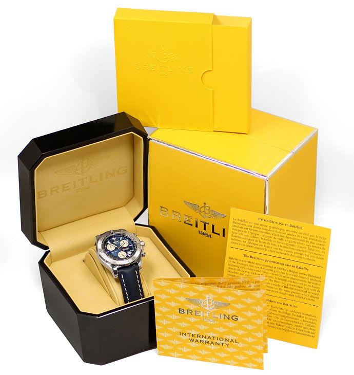 Foto 8 - Breitling Colt Chronograph Herrenuhr in Stahl mit Leder, U2288