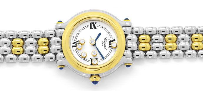 Foto 1 - Chopard Happy Sport Safir Brillant Stahlgold Medium Uhr, U2295