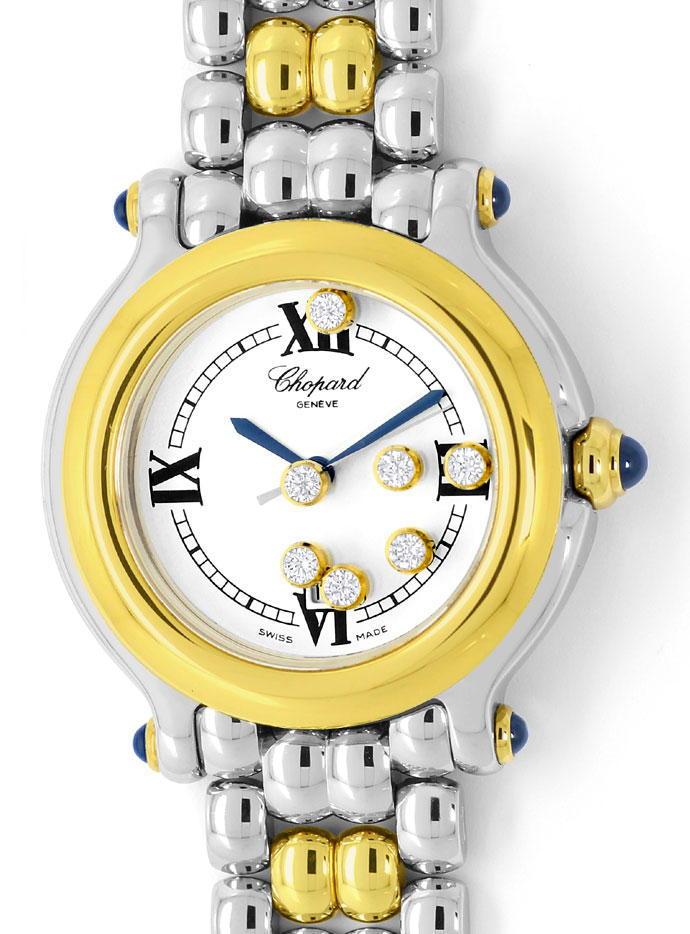 Foto 2 - Chopard Happy Sport Safir Brillant Stahlgold Medium Uhr, U2295