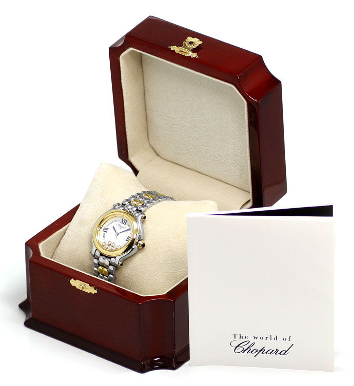 Foto 6, Chopard Happy Sport Safir Brillant Stahlgold Medium Uhr, U2295