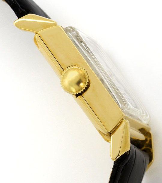 Foto 3 - Longines Vintage Armbanduhr Diamantzifferblatt Gelbgold, U2298