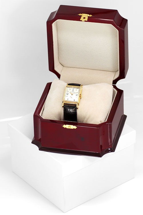 Foto 5 - Longines Vintage Armbanduhr Diamantzifferblatt Gelbgold, U2298