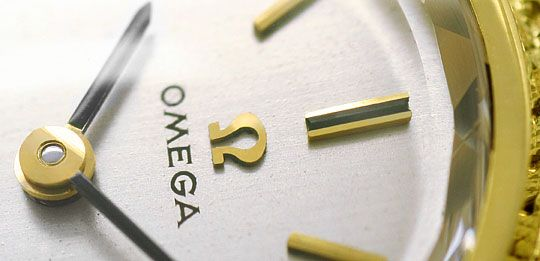 Foto 3, Damenuhr Omega Milanaise massiv 18K Gelbgold Handaufzug, U2303