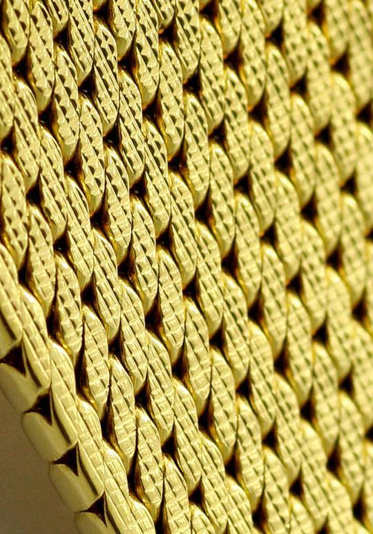 Foto 4, Damenuhr Omega Milanaise massiv 18K Gelbgold Handaufzug, U2303