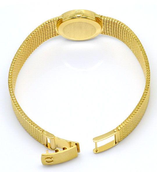 Foto 5, Damenuhr Omega Milanaise massiv 18K Gelbgold Handaufzug, U2303