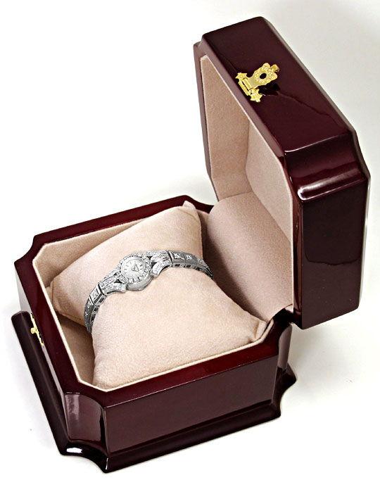 Foto 8, Jaeger LeCoultre Damenuhr 64 Diamanten 2,03ct Weissgold, U2307