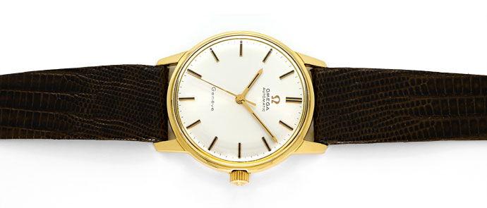 Foto 1 - Omega Seamaster Herrenuhr 18K Gelb Gold Eidechs Armband, U2308