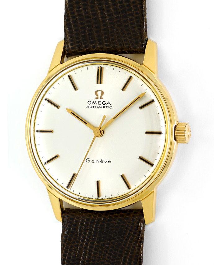 Foto 2 - Omega Seamaster Herrenuhr 18K Gelb Gold Eidechs Armband, U2308