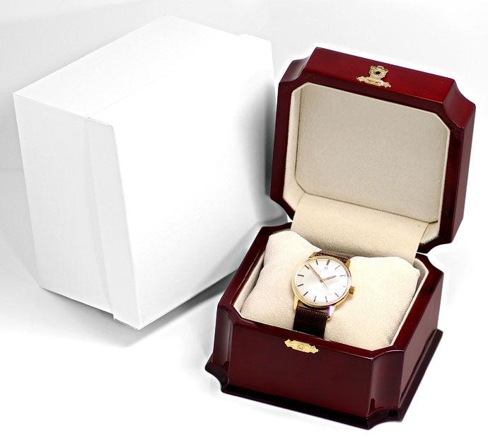 Foto 4 - Omega Seamaster Herrenuhr 18K Gelb Gold Eidechs Armband, U2308