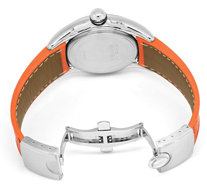 Foto 5, Courm Bubble Herren Uhr Stahl mit sensationellem Orange, U2309