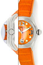 Courm Bubble Herren Uhr Stahl mit sensationellem Orange