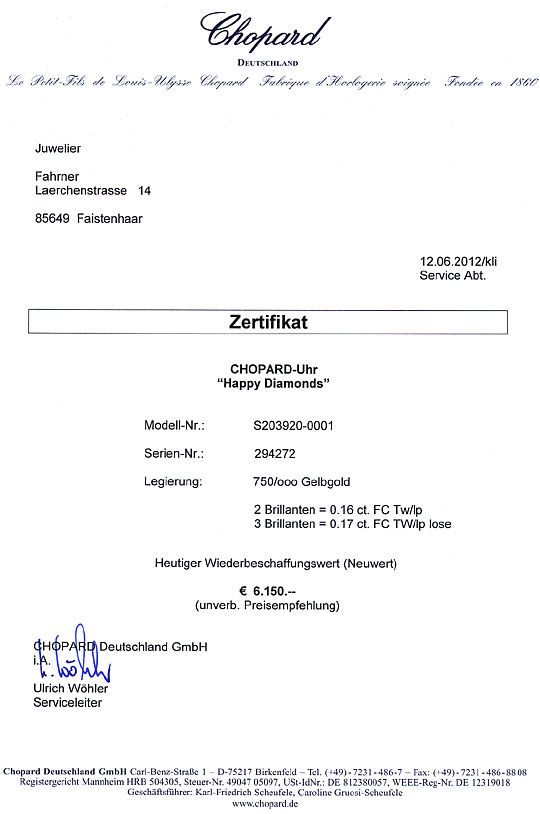 Foto 9 - Chopard Happy Diamonds, Bewegliche Brillanten, Damenuhr, U2313