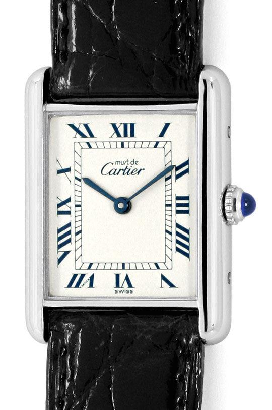 Foto 2, Cartier Tank Art Deco 925 Silber, Kaiman Falt, Damenuhr, U2314