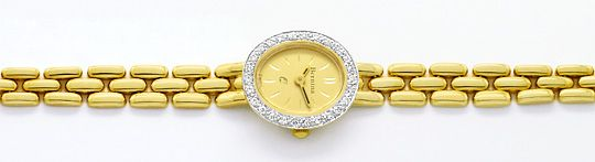 Foto 1, Bernina Damen-Armbanduhr 14K Gelbgold Diamantenluenette, U2321