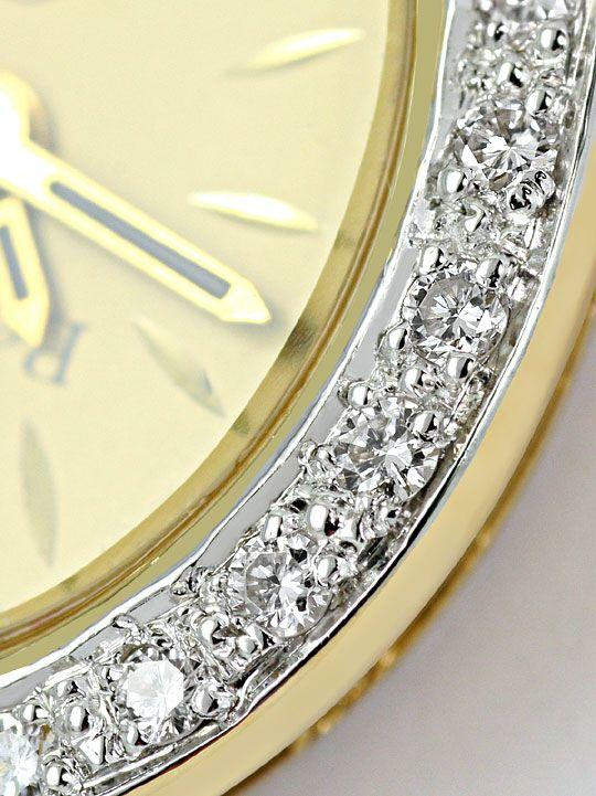 Foto 4, Bernina Damen-Armbanduhr 14K Gelbgold Diamantenluenette, U2321