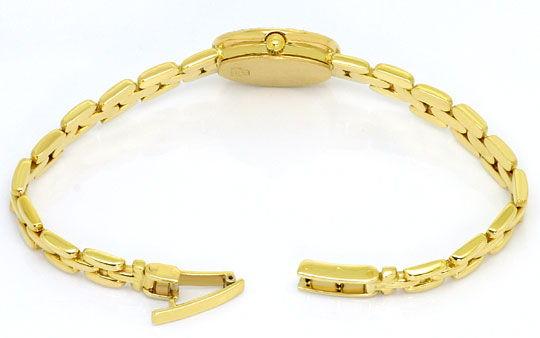 Foto 5, Bernina Damen-Armbanduhr 14K Gelbgold Diamantenluenette, U2321