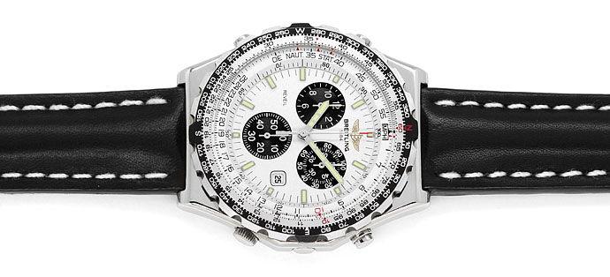 Foto 1 - Breitling Jupiter Pilot Chronograph Alarm Edelstahl Uhr, U2324