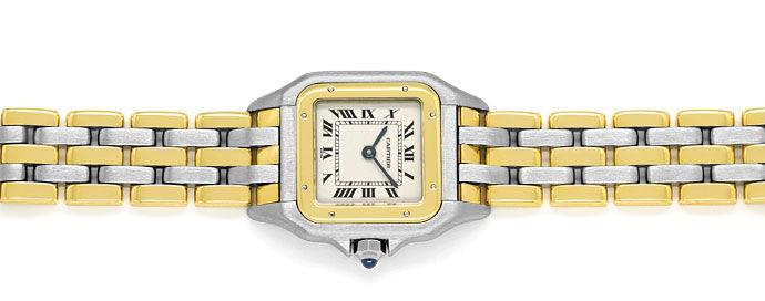 Foto 1 - Cartier Panthere Damen Armbanduhr mit drei Steifen Gold, U2328
