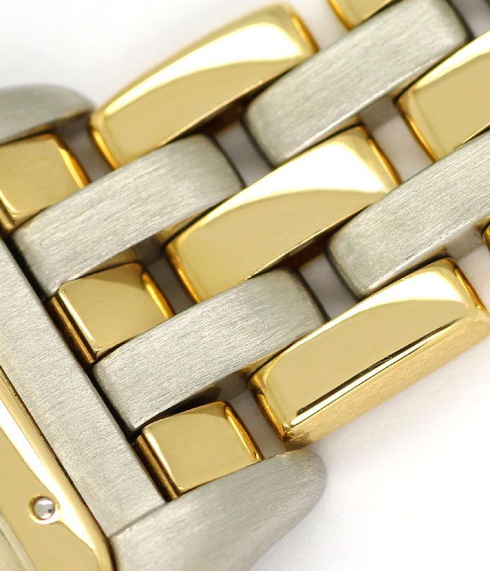 Foto 4 - Cartier Panthere Damen Armbanduhr mit drei Steifen Gold, U2328