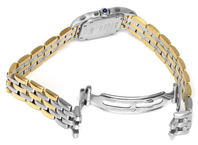 Foto 5 - Cartier Panthere Damen Armbanduhr mit drei Steifen Gold, U2328