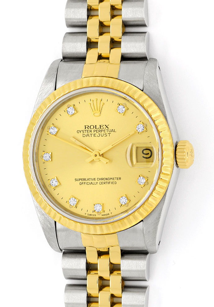 Foto 2 - Rolex Datejust Diamant Zifferblatt Medium Uhr Stahlgold, U2331