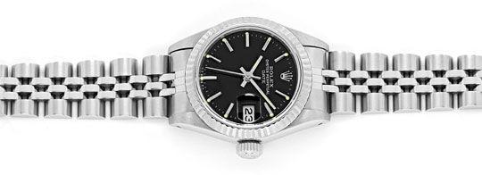 Foto 1, Rolex Date Weissgold-Lünette Edelstahl Damen-Armbanduhr, U2332