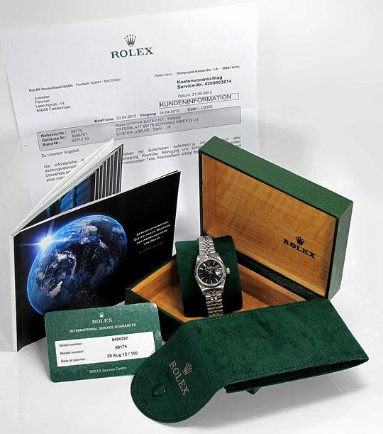 Foto 6, Rolex Date Weissgold-Lünette Edelstahl Damen-Armbanduhr, U2332