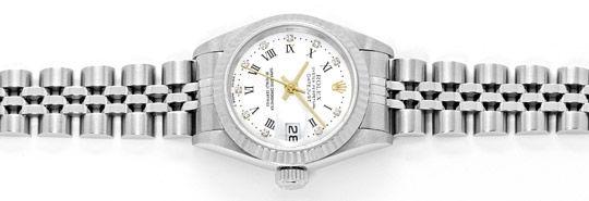 Foto 1, Rolex Diamanten Weissgold-Luenette ST Datejust Damenuhr, U2334