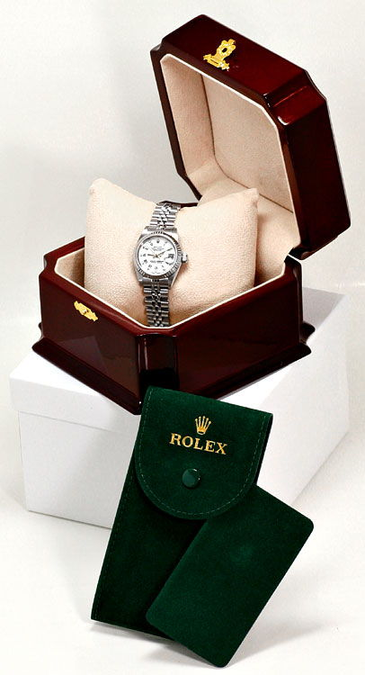 Foto 6 - Rolex Diamanten Weissgold Luenette ST Datejust Damenuhr, U2334