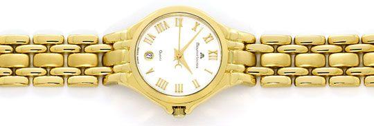 Foto 1, Maurice Lacroix Damen-Uhr 18K massiv-Gold im Neuzustand, U2335