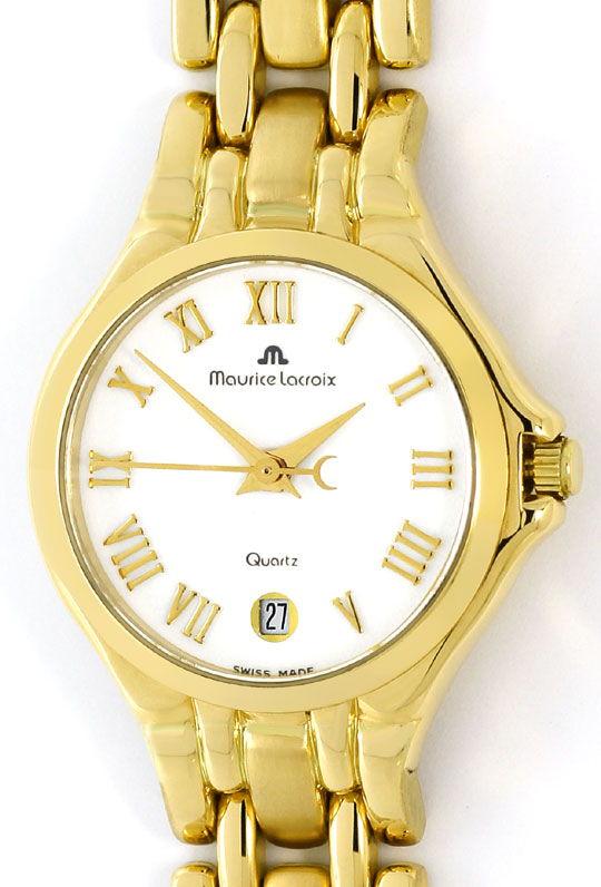Foto 2 - Maurice Lacroix Damen Uhr 18K massiv Gold im Neuzustand, U2335