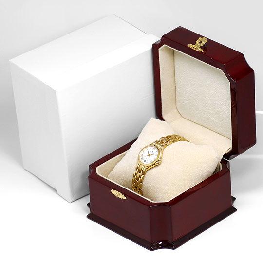 Foto 5, Maurice Lacroix Damen-Uhr 18K massiv-Gold im Neuzustand, U2335