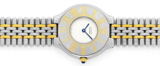 Foto 1 - Cartier Armbanduhr must de Cartier Montre 21 Stahl Gold, U2339
