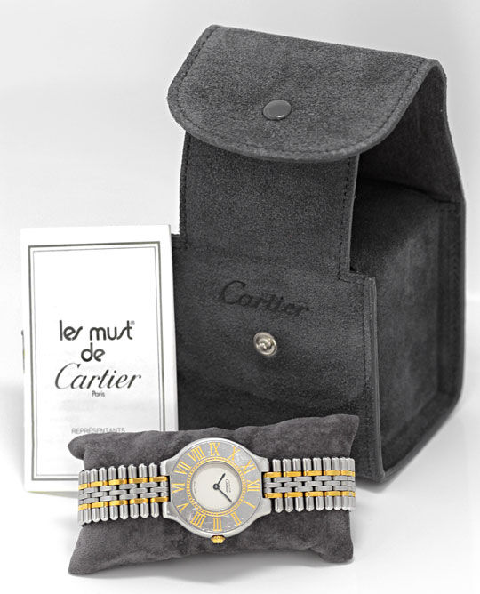 Foto 4 - Cartier Armbanduhr must de Cartier Montre 21 Stahl Gold, U2339