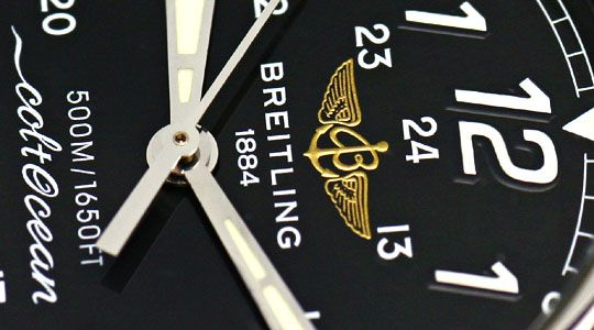 Foto 3, Breitling Colt Ocean Stahl Lederband, Herren-Armbanduhr, U2340