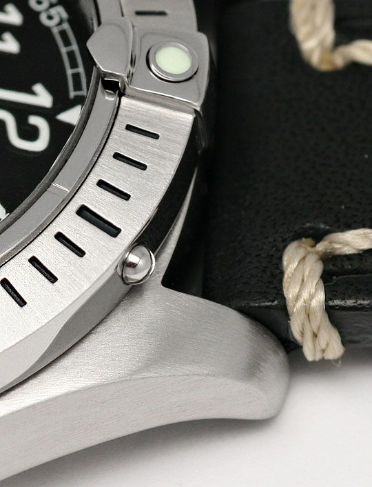 Foto 4, Breitling Colt Ocean Stahl Lederband, Herren-Armbanduhr, U2340