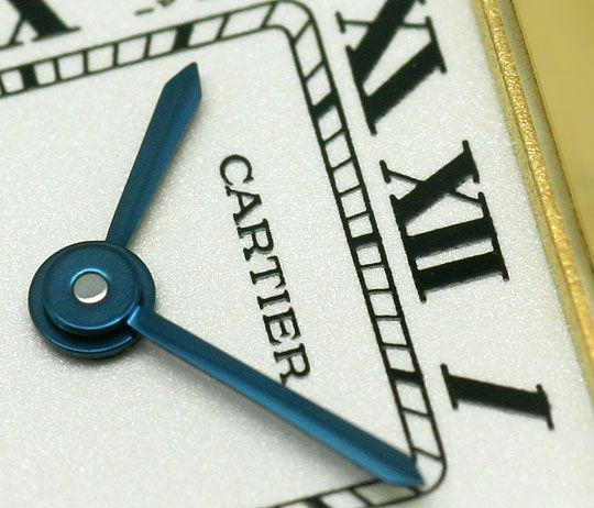 Foto 3, Cartier Panthere Gold mit Schwarzem Kroko-Armband Damen, U2352