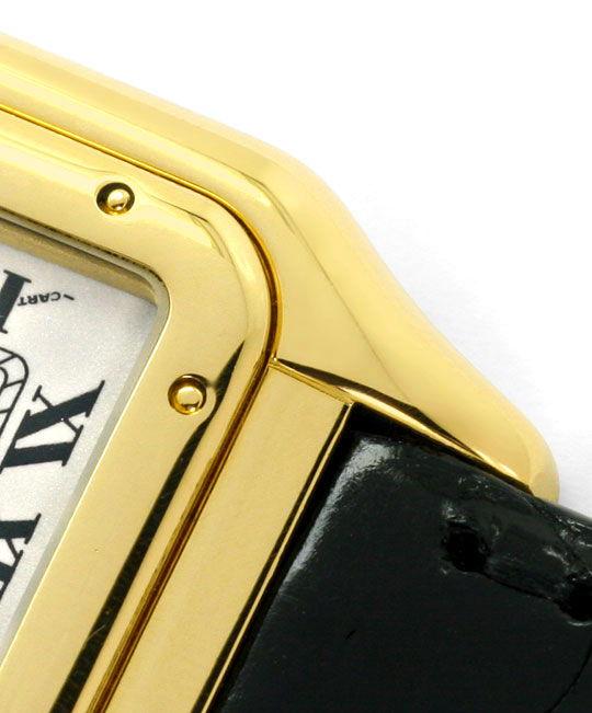 Foto 4, Cartier Panthere Gold mit Schwarzem Kroko-Armband Damen, U2352