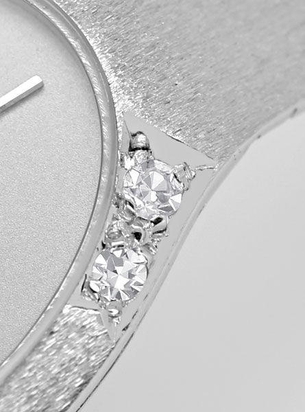 Foto 4, Ebel 18K Weissgold Damenuhr, Diamanten auf Dem Gehaeuse, U2369