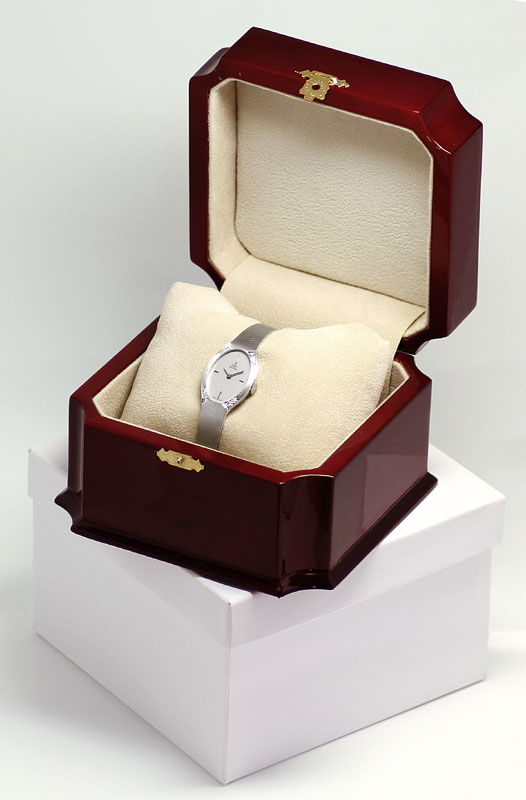 Foto 6, Ebel 18K Weissgold Damenuhr, Diamanten auf Dem Gehaeuse, U2369