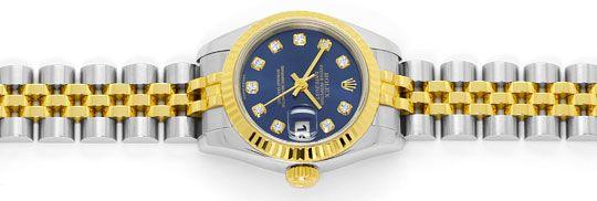 Foto 1, Rolex Lady Datejust Stahl-Gold Diamant-Zifferblatt Blau, U2372