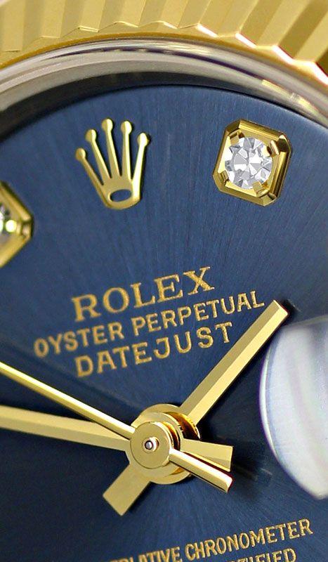 Foto 3, Rolex Lady Datejust Stahl-Gold Diamant-Zifferblatt Blau, U2372